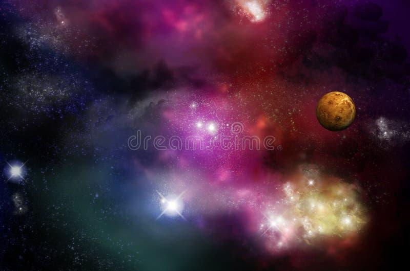 Universo - starfield e nebulose illustrazione vettoriale