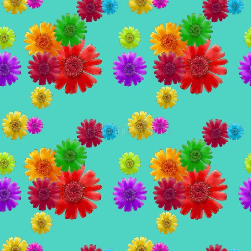 universo Struttura senza cuciture del modello dei fiori Priorità bassa floreale, vettore illustrazione di stock