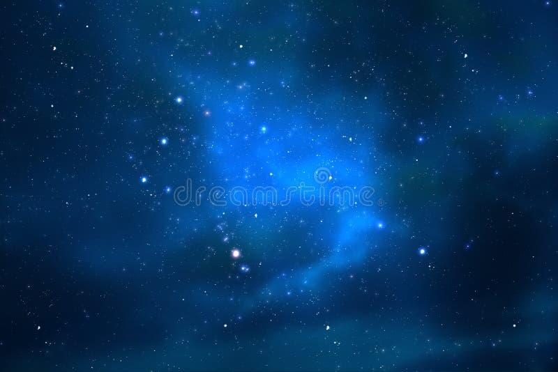 Universo y estrellas del cielo nocturno ilustración del vector