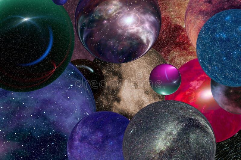 Universos múltiples imagen de archivo libre de regalías