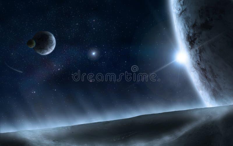 Universum 2 stock illustrationer