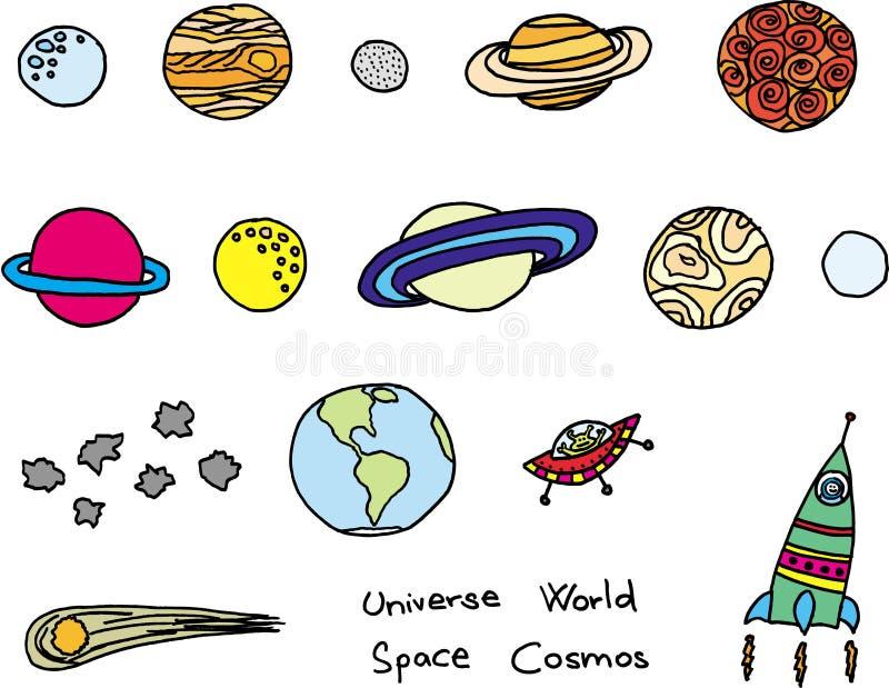 universum royaltyfri illustrationer