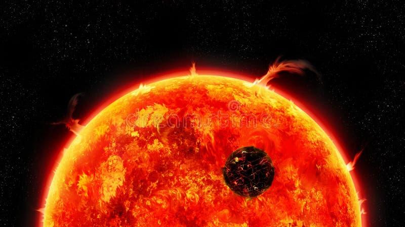 Universum der riesigen Sonne lizenzfreie abbildung