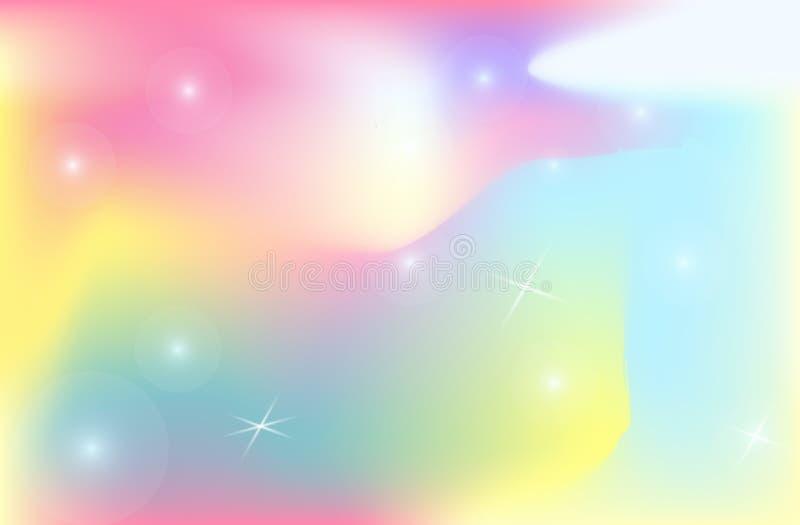 Universum för vektor för ingrepp för lutning för färg för enhörningbakgrundbakgrund royaltyfri illustrationer