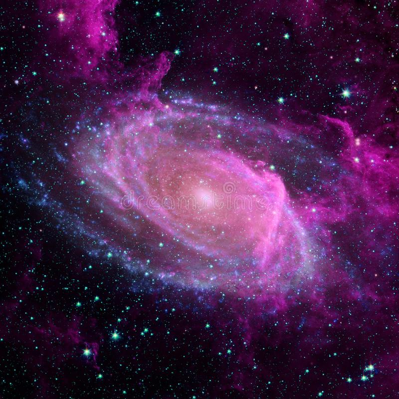 Universum f?llte mit Sternen, Nebelfleck und Galaxie stock abbildung
