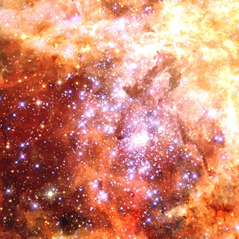 Universum f?llte mit Sternen, Nebelfleck und Galaxie vektor abbildung