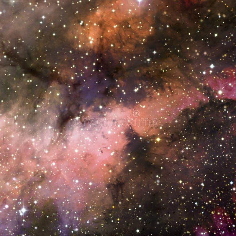 Universum f?llte mit Sternen, Nebelfleck und Galaxie stockbilder