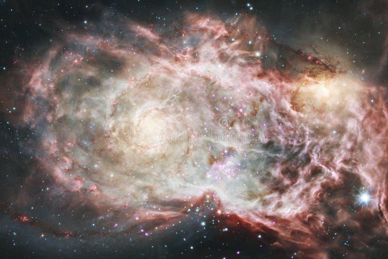 Universum f?llte Sterne, Nebelfleck und Galaxie Kosmische Kunst, Zukunftsromantapete lizenzfreies stockfoto
