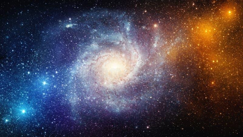 Universum fyllde med stjärnor, nebulosan och galaxen Beståndsdelar av detta