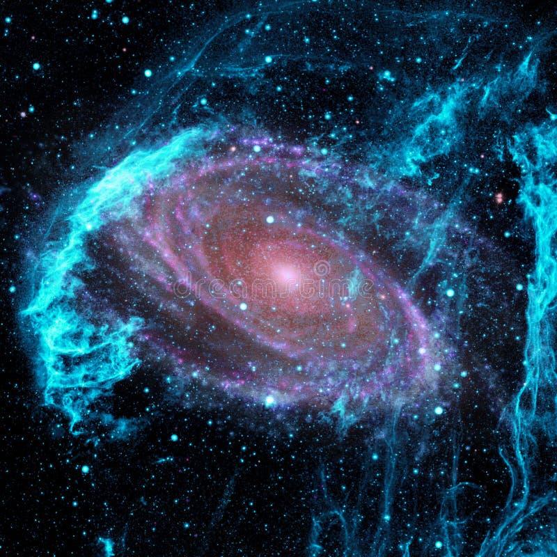 Universum fyllde med stj?rnor, nebulosan och galaxen royaltyfri fotografi