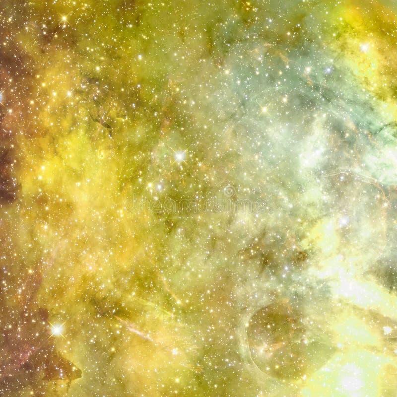 Universum fyllde med stj?rnor, nebulosan och galaxen vektor illustrationer