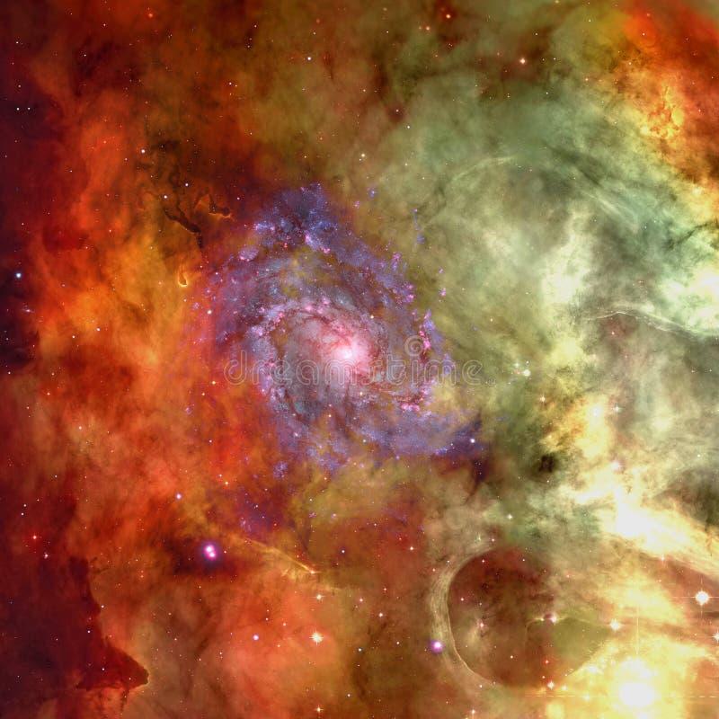 Universum fyllde med stj?rnor, nebulosan och galaxen royaltyfria bilder