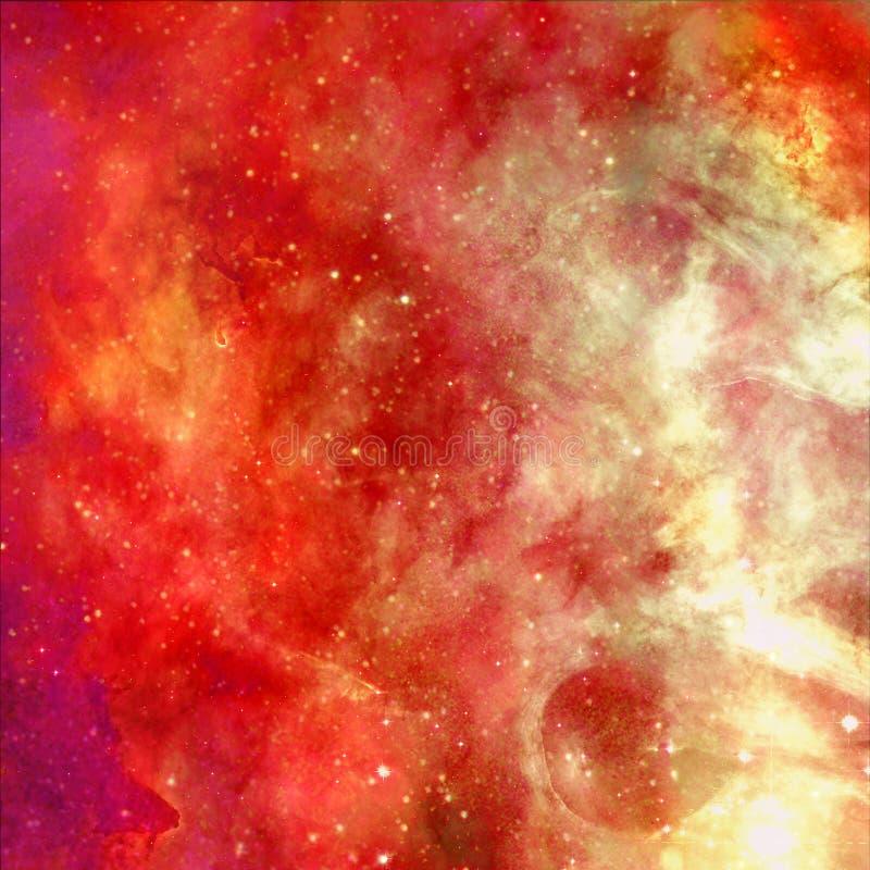 Universum fyllde med stj?rnor, nebulosan och galaxen arkivbild