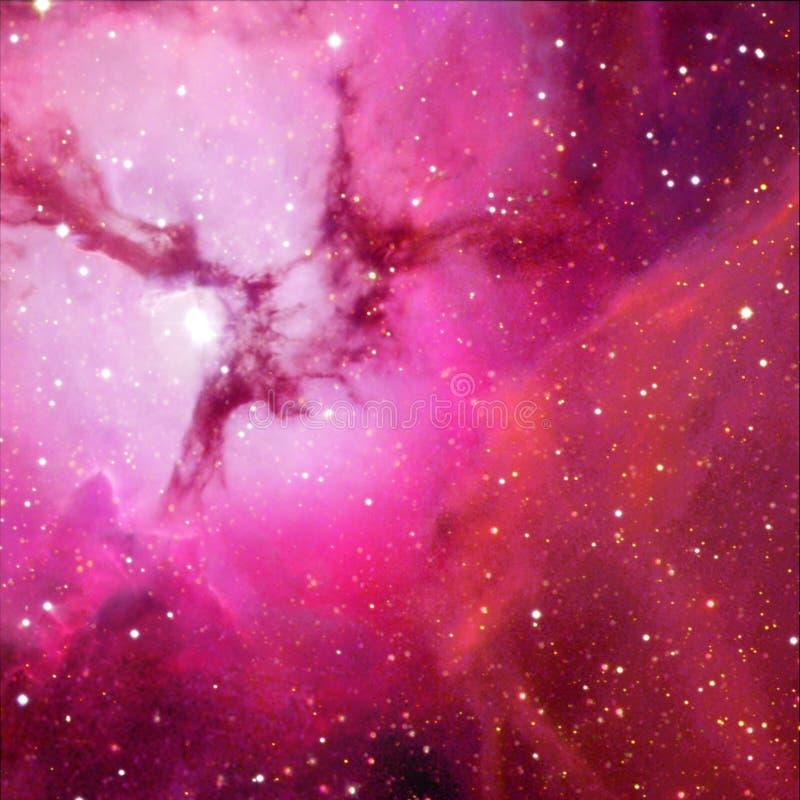 Universum fyllde med stj?rnor, nebulosan och galaxen royaltyfri illustrationer