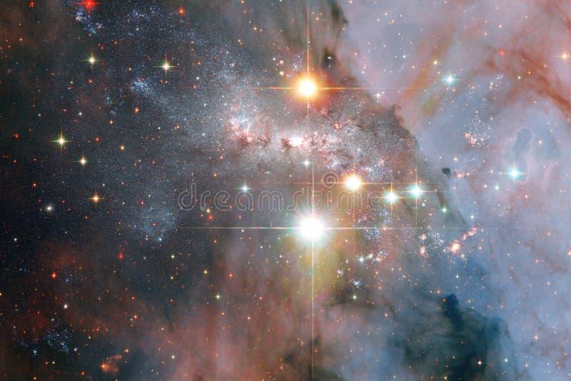 Universum fyllde stj?rnor, nebulosan och galaxen Kosmisk konst, sciencetapet fotografering för bildbyråer