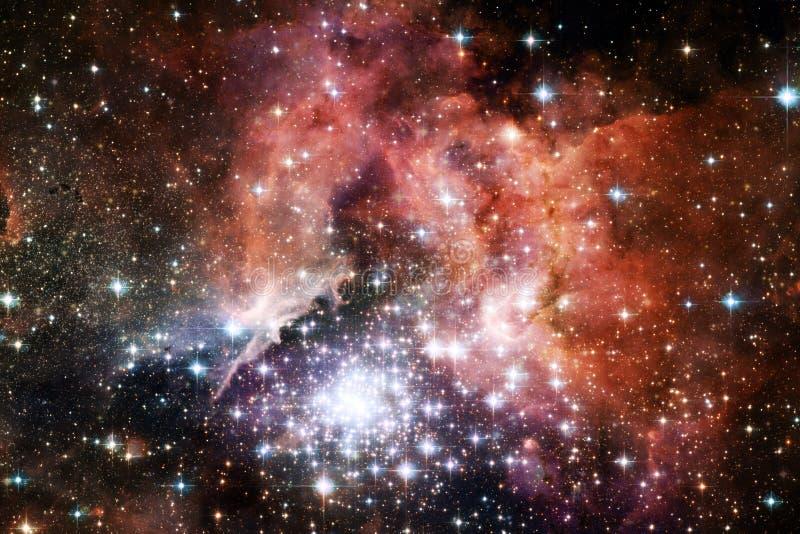 Universum fyllde stj?rnor, nebulosan och galaxen Kosmisk konst, sciencetapet royaltyfria bilder