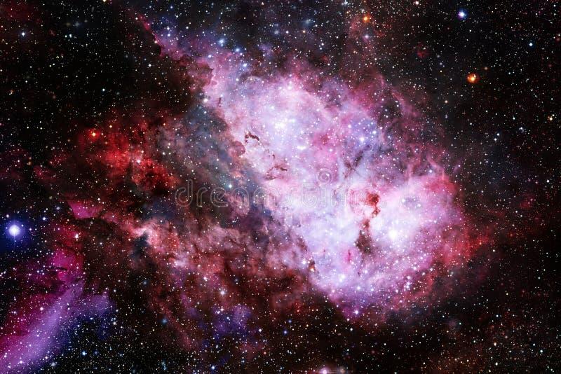 Universum fyllde stj?rnor, nebulosan och galaxen Kosmisk konst, sciencetapet arkivfoto