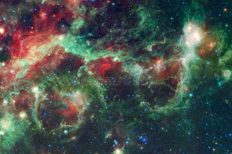 Universum fyllde stj?rnor, nebulosan och galaxen Kosmisk konst, sciencetapet arkivbild