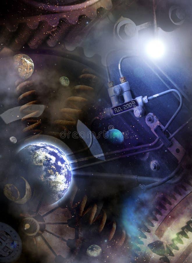 Universum-Jahr-Zählwerk lizenzfreie abbildung