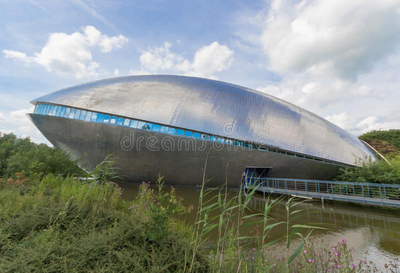 The Universum Science Center of Bremen, Germany. Bremen, Germany - the Universum Science Center is one of the most important museums of Bremen, and easely stock images