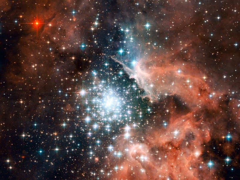 Universum - Starfield stock abbildung