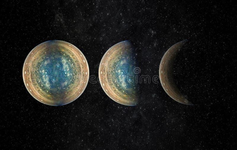 Universumplats med planeter, stjärnor och galaxer i yttre rymd e royaltyfri fotografi