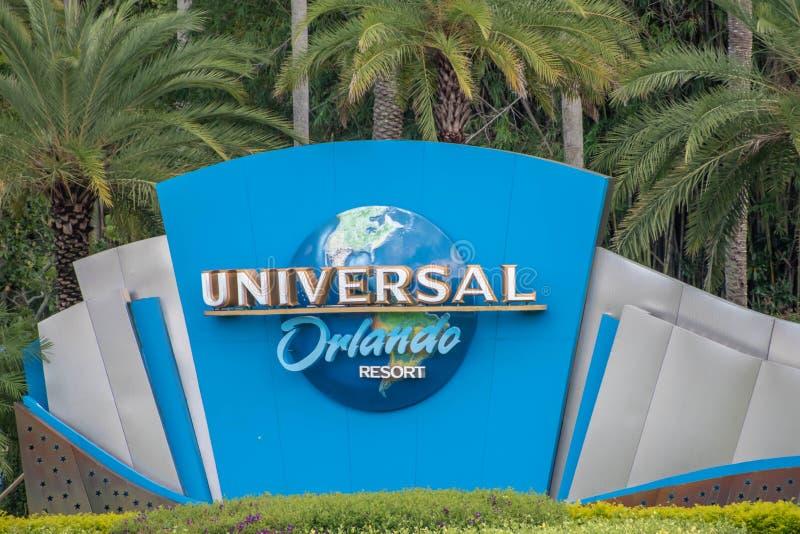 Uniwersalne logo Orlando na Uniwersalnym Obszarze Studiów 3 obrazy royalty free