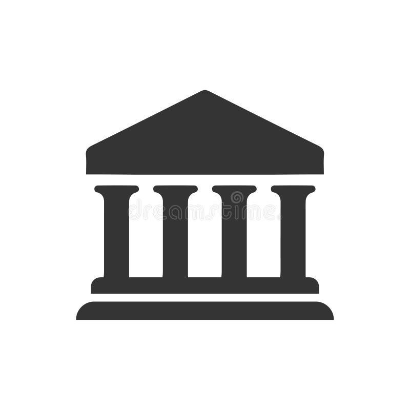 Uniwersytecka ikona royalty ilustracja