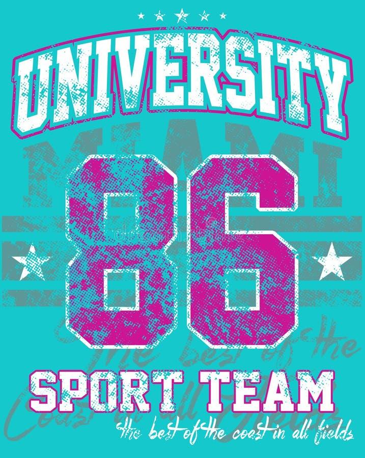 Uniwersytecka sport drużyna ilustracja wektor