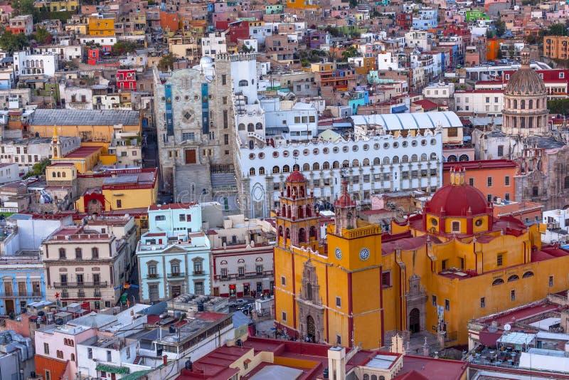 Uniwersytecki Świątynny Companiia Nasz damy bazylika Guanajuato Meksyk obraz royalty free