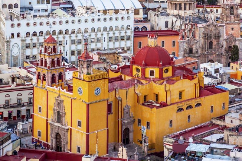 Uniwersytecki Świątynny Companiia Nasz damy bazylika Guanajuato Meksyk zdjęcia royalty free