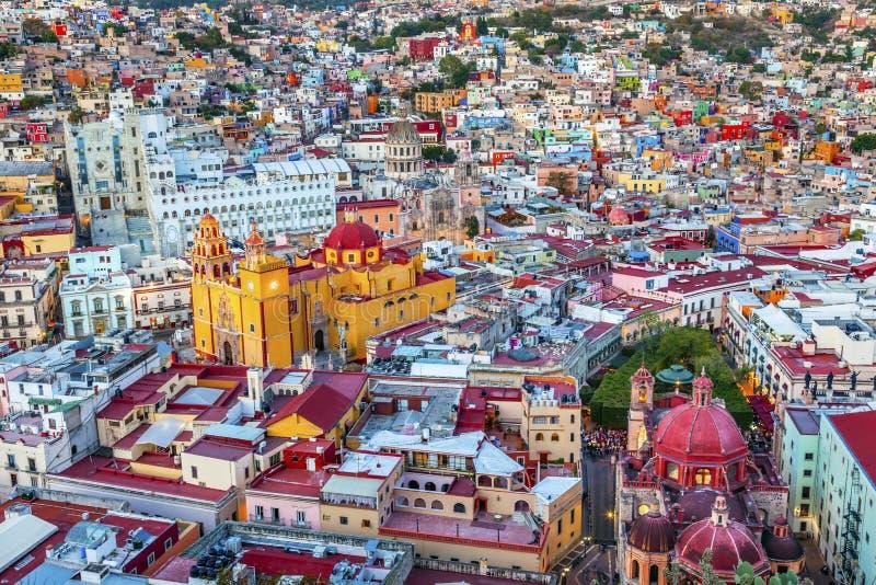 Uniwersytecki Świątynny Companiia Nasz damy bazylika Guanajuato Meksyk obrazy royalty free