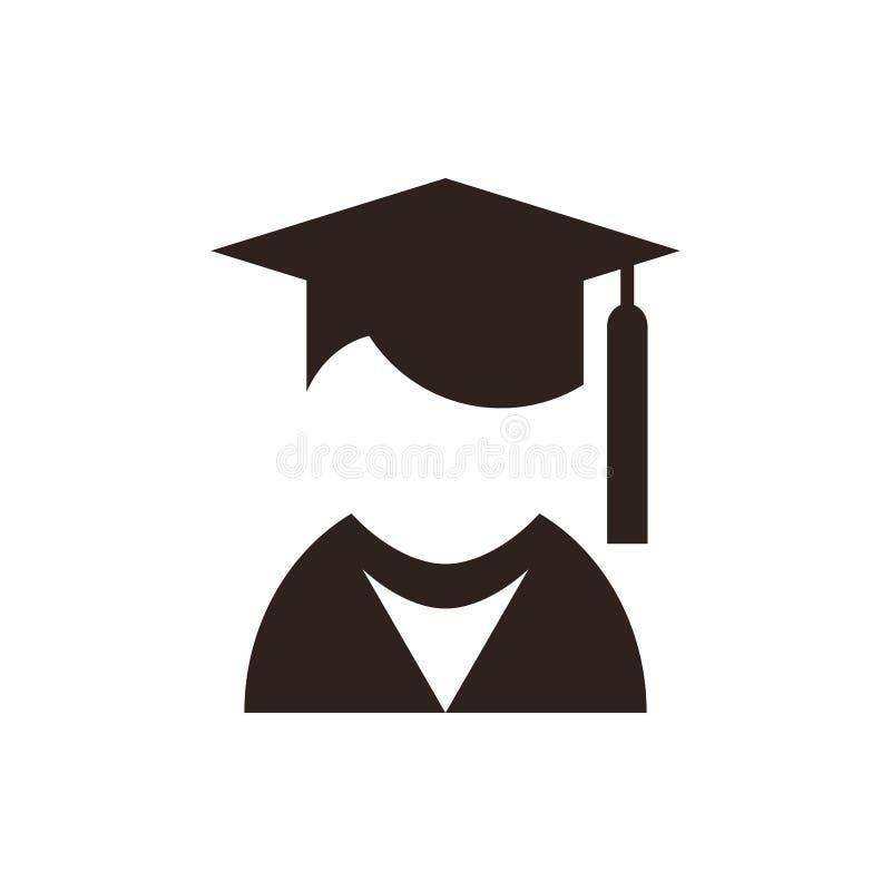 Uniwersytecki avatar Edukaci ikona ilustracja wektor