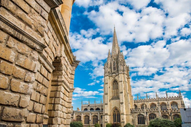 Uniwersytecki kościół St Mary dziewica, Oxford obrazy royalty free