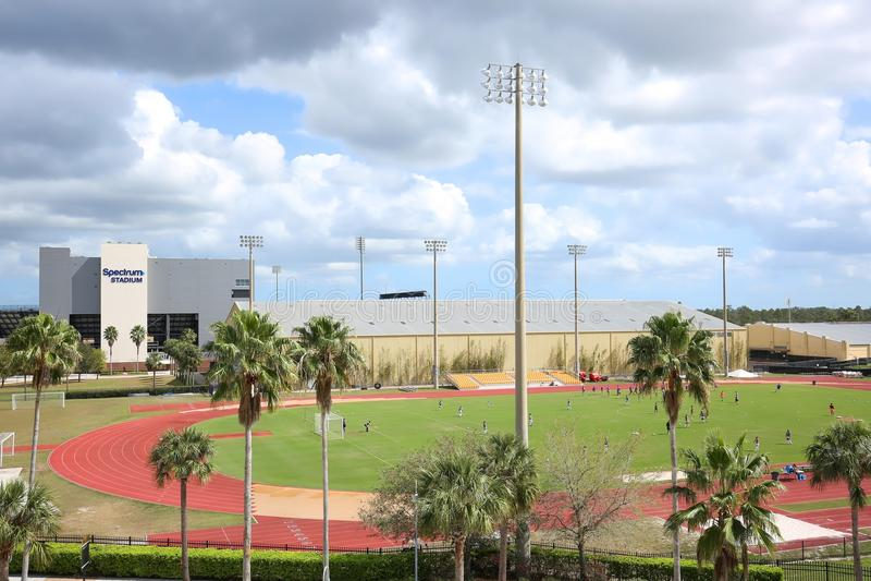 Uniwersytet Środkowy Floryda ` s stadium fotografia royalty free