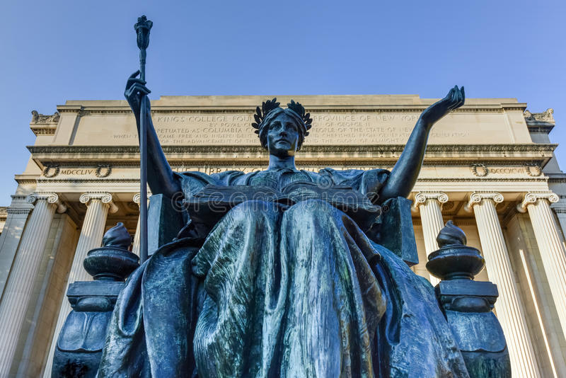 Uniwersytet Columbia biblioteka - Miasto Nowy Jork fotografia royalty free