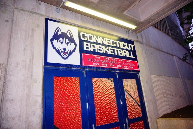 Uniwersytet Connecticut stadium brama fotografia royalty free
