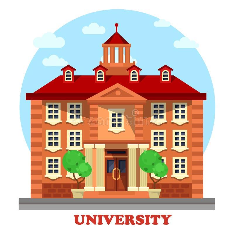 Uniwersytet dla wysokiego magisterskiego edukacja budynku royalty ilustracja