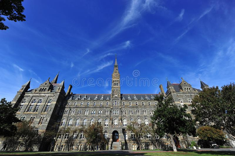 uniwersytet georgetown zdjęcie stock