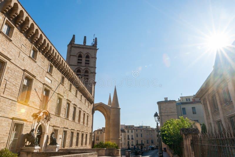 Uniwersytet Montpellier, fakultet medycyna budynki Montpel zdjęcia royalty free