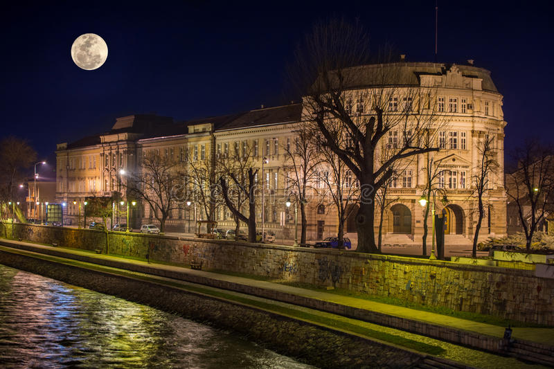 Uniwersytet Nis budynek fotografia royalty free