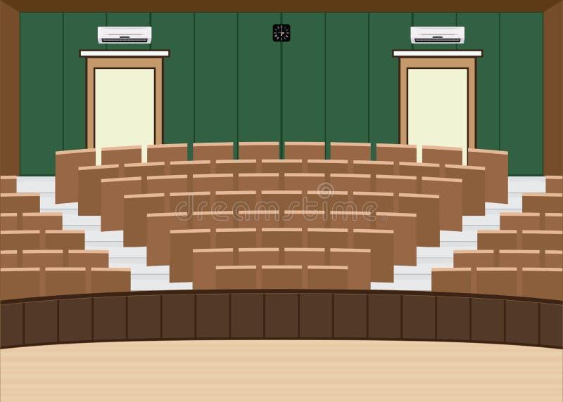 Uniwersytet odczytowa główna sala z Wielką miejsca siedzące pojemnością ilustracji