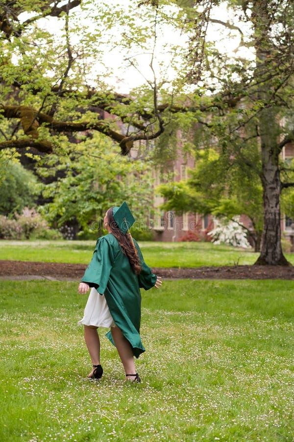 Uniwersytet Oregon absolwent na kampusie w Eugene obraz royalty free