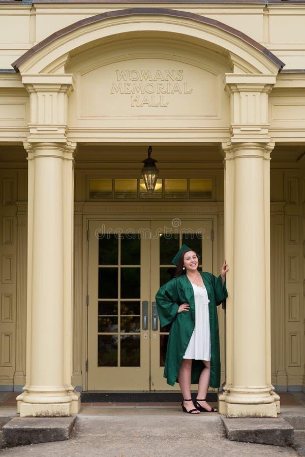 Uniwersytet Oregon absolwent na kampusie w Eugene fotografia royalty free