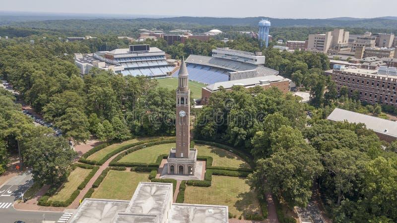 Uniwersytet Pólnocna Karolina przy kaplicy wzgórzem obrazy stock