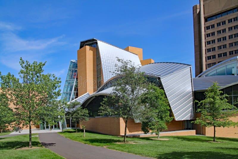 Uniwersytet Princeton biblioteka projektująca Frank Gehry obrazy royalty free