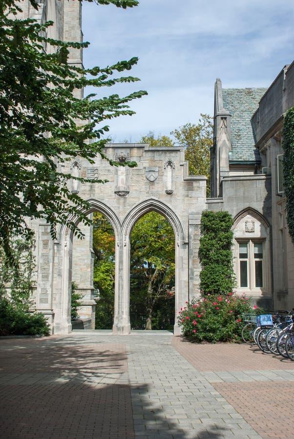 Uniwersytet Princeton jest intymnym bluszcza ligi badania uniwersytetem w Princeton zdjęcie royalty free