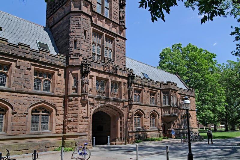 Uniwersytet Princeton kampus mnogich eleganckich odzianych budynki tak jak Pyne Hall obrazy stock