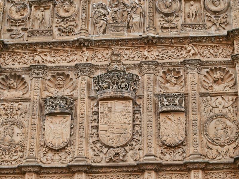 Uniwersytet Salamanca szczegół fotografia royalty free