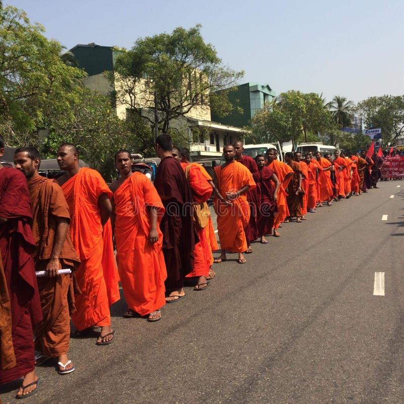 Uniwersytet Sri Lanka mnisi buddyjscy obraz royalty free